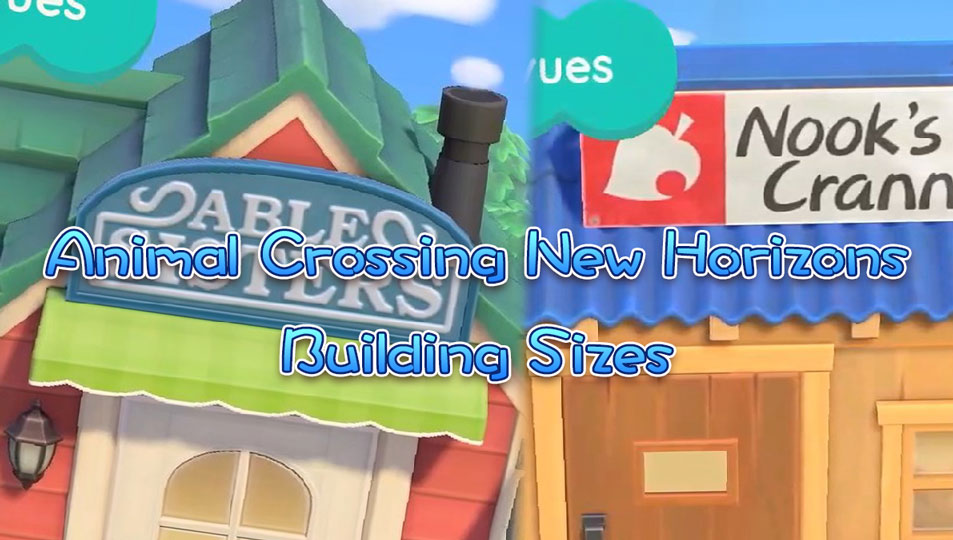 Animal Crossing New Horizons Building Plot Sizes Acnh House Shop Tailor Museum Campsite Exterior Dimensions