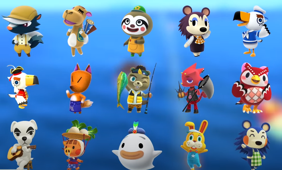 animal crossing new horizons special characters