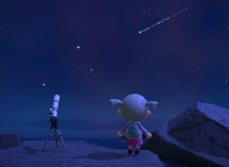 animal crossing new horizons meteor shower times