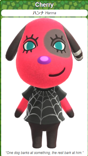 ACNH Most Loved Villager - Cherry