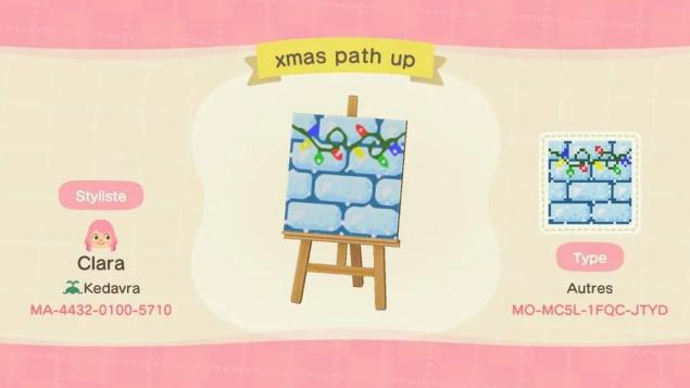 acnh christmas path 4