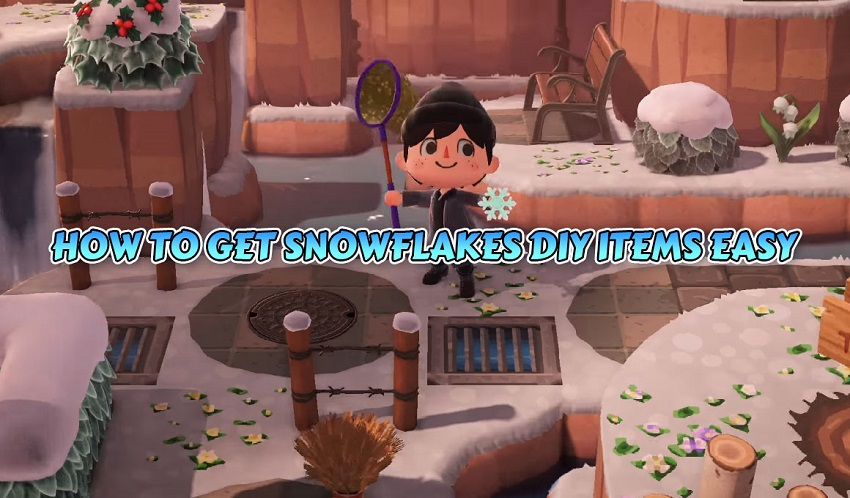 ACNH HOW TO GET SNOWFLAKES DIY ITEMS EASY