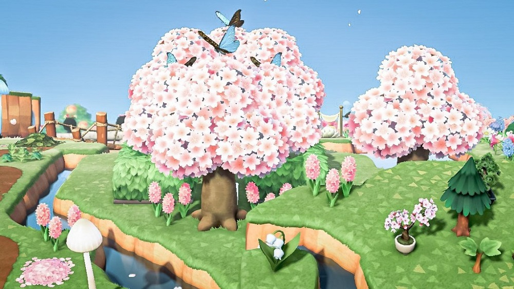 Best ACNH Cherry Blossom Island 2 - Cherry blossom forestcore