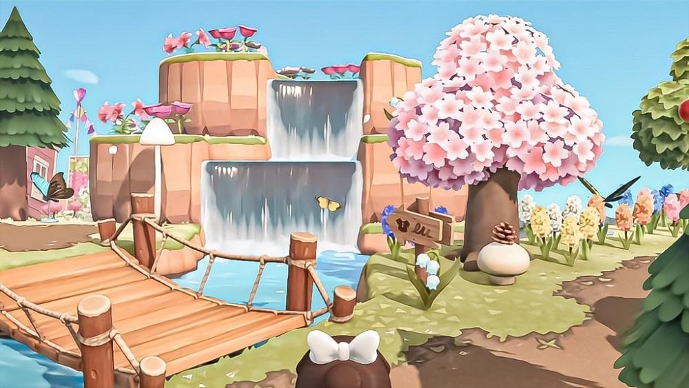 Best ACNH Cherry Blossom Island 3 - pretty pastel spring island