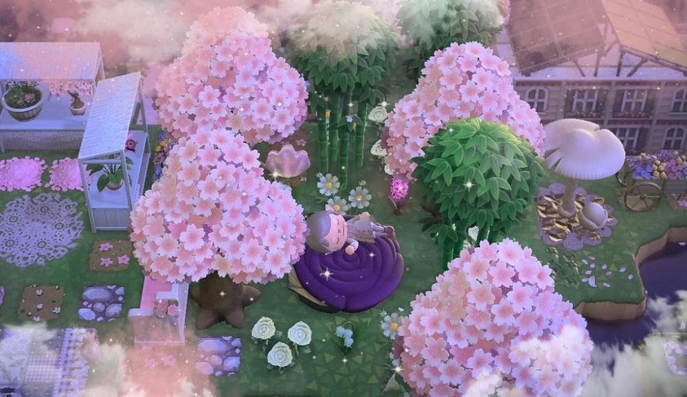 Best ACNH Cherry Blossom Island 5 - Cherry Blossom Fairycore Island